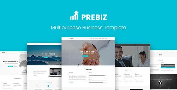 Prebiz - Multipurpose Corporate Business / Portfolio PSD Template - Corporate Photoshop