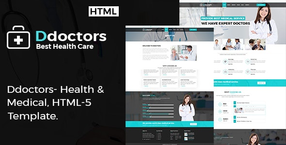 Ddoctors - Health And Medical HTML Template. - Business Corporate