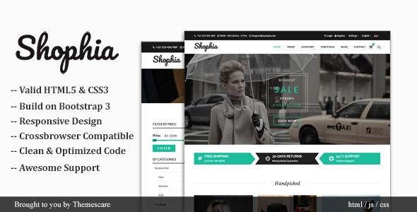 Shophia - Shop HTML5 Responsive Template - Fashion Retail