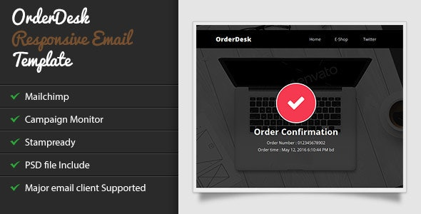 OrderDesk - Responsive Email Template with Stampready Builder - Catalogs Email Templates