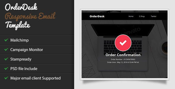 OrderDesk - Responsive Email Template with Stampready Builder