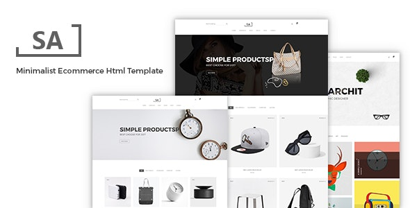 Sa - Minimal eCommerce HTML Template - Shopping Retail