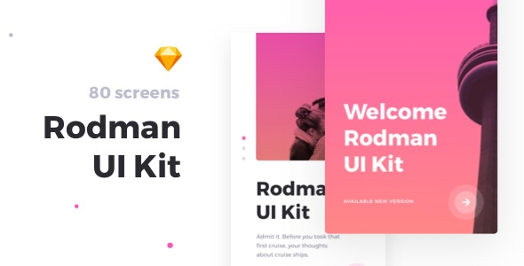 Rodman Mobile UI Kit - Creative Sketch