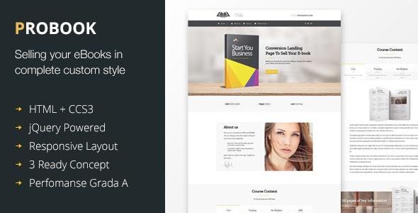 ProBook - Conversion Landing page - Marketing Corporate