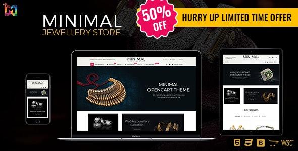 Minimal - Jewelry Responsive OpenCart Theme - OpenCart eCommerce