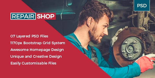 RepairShop -  Auto Service / Tuning Center PSD Template - Miscellaneous Photoshop