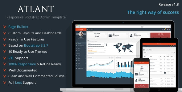 Atlant - Bootstrap Admin Template - Admin Templates Site Templates