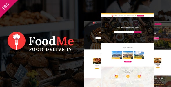 FoodMe-Food Delivery & Food Ordering Psd Template. - Food Retail