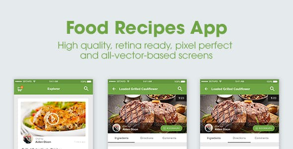 Food Delivery Mobile App Website Templates from ThemeForest