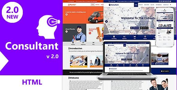 Consultant - OnePage Multi-Purpose HTML Template - Corporate Site Templates