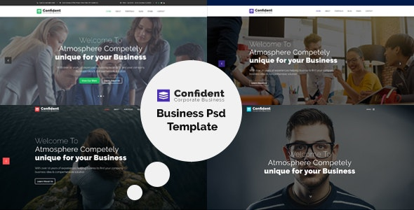 Confident - Business & Agency PSD Template - Business Corporate