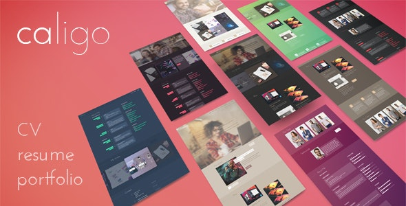 Caligo - Portfolio / Resume & CV,  Bootstrap 4 - Portfolio Creative