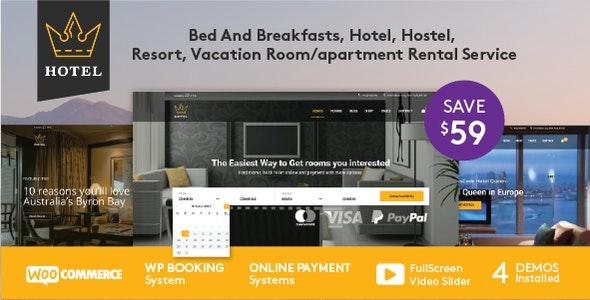 Hotel Booking WordPress Theme - Travel Retail