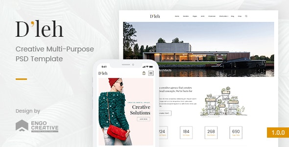 D'leh - Creative Multi-Purpose PSD Template - Creative Photoshop