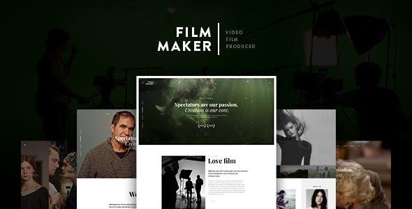 FilmMaker Drupal 8 Theme Movie Production - Video Blogger - Creative Agency