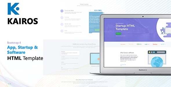 Kairos - App, Startup & Software HTML Template - Software Technology