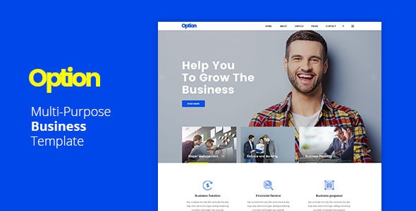 Option - Multi-Purpose Business Template - Business Corporate