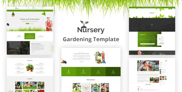 Nursery - Gardening HTML5 Template - Business Corporate
