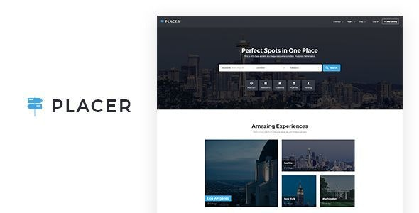 Placer - Geolocation & Directory Listing PSD Template - Miscellaneous Photoshop