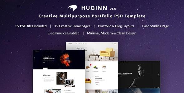 Huginn - Creative Multi-Purpose Portfolio PSD Template - Creative Photoshop