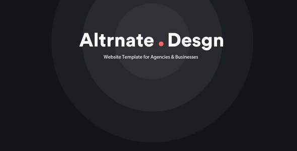 Altrnate Desgn website Design Template