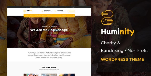 Huminity- Charity/Fundraising WordPress Theme - Charity Nonprofit