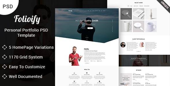 Folioify - Personal Portfolio PSD Template