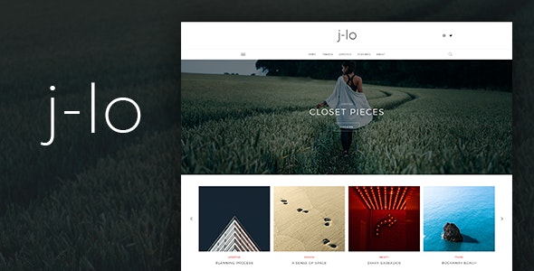 J-lo - Elegant Blogging PSD Template - Personal Photoshop