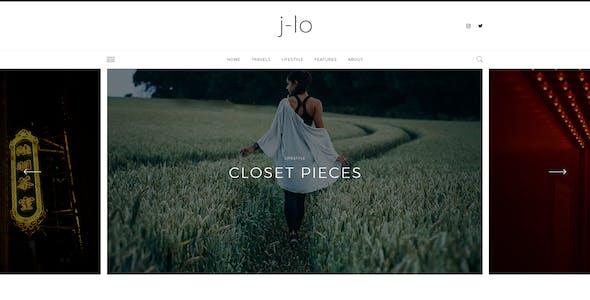J-lo - Elegant Blogging PSD Template