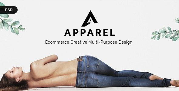Apparel E-Commerce PSD Template - Retail Photoshop