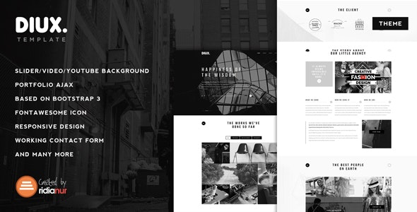 Diux - Responsive One Page Portfolio Theme - Portfolio Creative