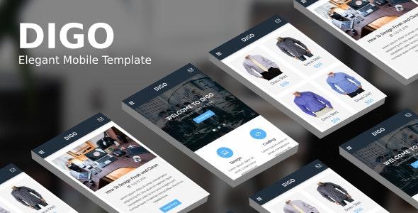 Digo - Elegant Mobile Template - Mobile Site Templates