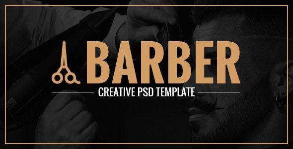 Barber - A Creative Landing Page PSD - Photoshop UI Templates
