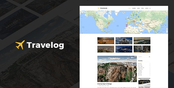 Travelog - WordPress Theme For Travelers - Personal Blog / Magazine