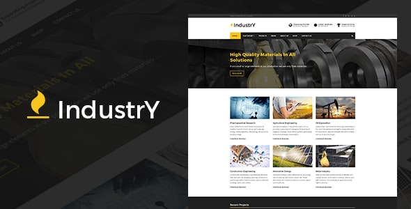 Industry - Industrial & Factory WordPress Theme - Business Corporate