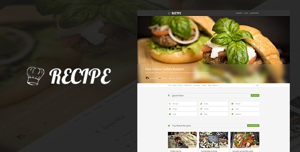Recipe - WP Theme For Recipes - Food Retail