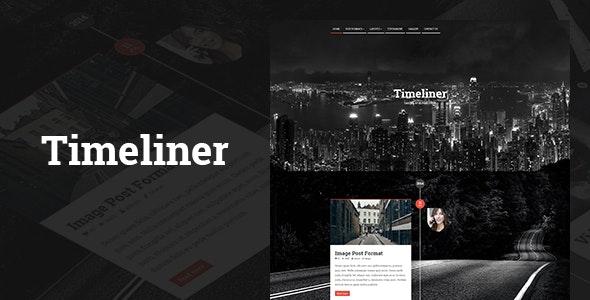 Timeliner | Responsive Timeline Blogging WP Theme - News / Editorial Blog / Magazine