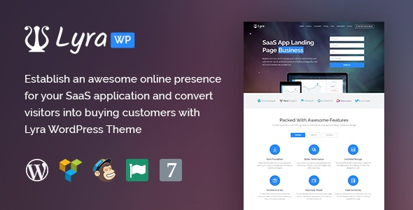 Lyra - WordPress SaaS App Landing Page - Marketing Corporate