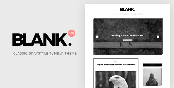 Blank | Gray-style Classic Tumblr Theme - Blog Tumblr