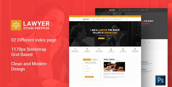 Lawyer PSD Template - Corporate Photoshop