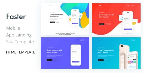 Faster- App Landing Page HTML Template