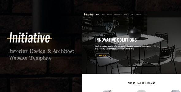 Initiative - Interior Design & Architect HTML5 Site Template - Business Corporate