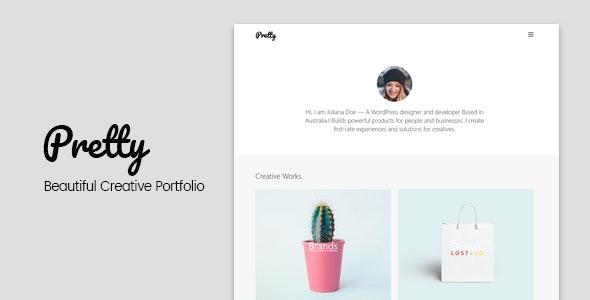 Pretty - Beautiful Creative Portfolio Template - Personal Site Templates