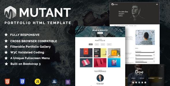 Mutant - Personal Portfolio HTML Template - Portfolio Creative