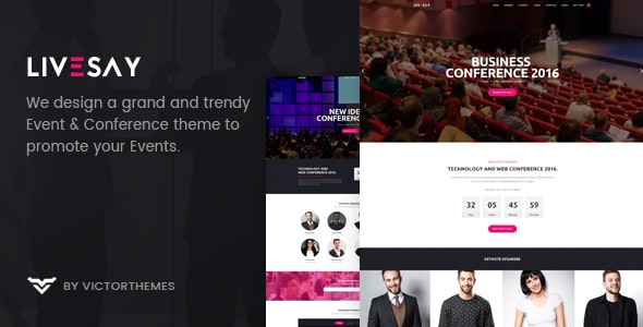 Livesay - Event & Conference WordPress Theme - Events Entertainment