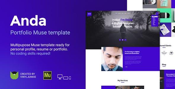 Anda - Creative Multipurpose Portfolio Muse Template