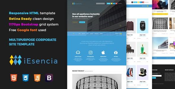 iEsencia - Corporate HTML5 Template - Corporate Site Templates