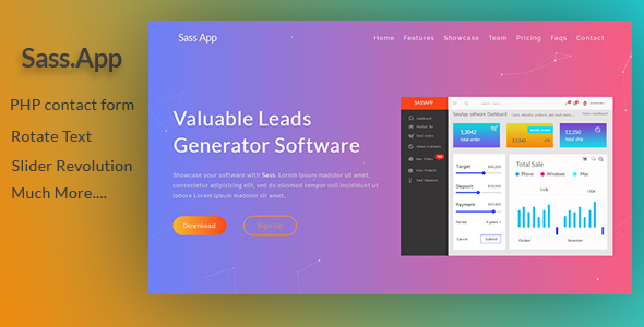 SassApp | Software & App Landing Page - Software Technology