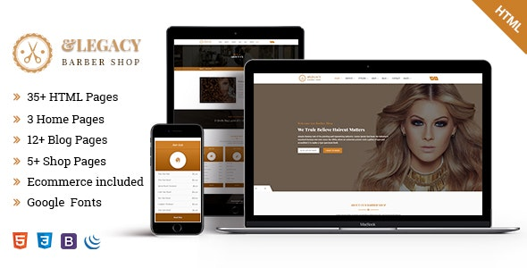 Legacy - Barber Shop HTML5 Template - Health & Beauty Retail