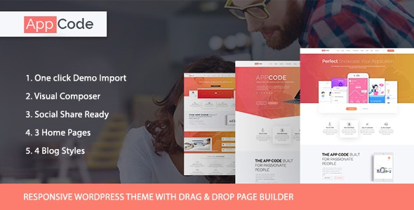 AppCode - Responsive Mobile App WordPress Theme - Software Technology